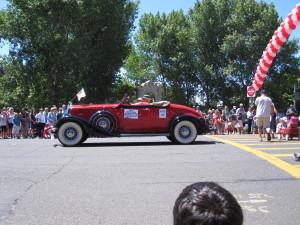 Rare vintage cars  dominated the entries